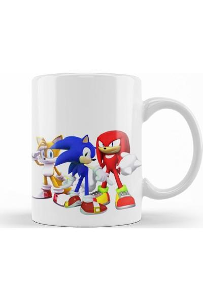 Baskı Dükkanı Knuckles Sonic Chaos Kupa Bardak Porselen