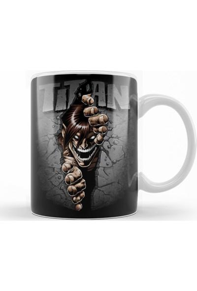Baskı Dükkanı Attack On Titan Split Titan Kupa Bardak Porselen