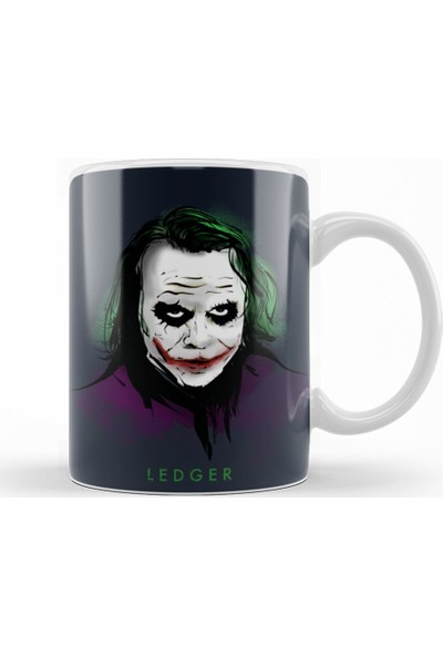 Baskı Dükkanı Joker Ledger Kupa Bardak Porselen