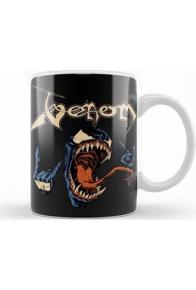 Baskı Dükkanı Venom Metalhead Kupa Bardak Porselen