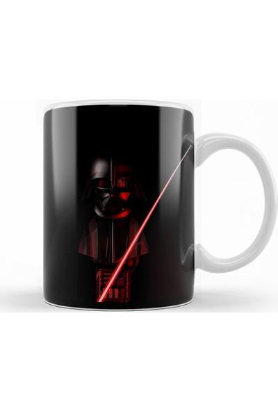 Baskı Dükkanı Star Wars ''Darth Vader'' İllüstrasyon Kupa Bardak Porselen