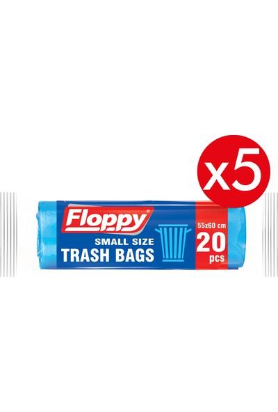 Floppy Orta Boy Çöp Torbası 55X60 30L Lt 20'li 70 gr 5'li