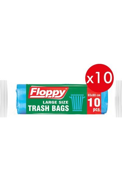 Floppy Büyük Boy Çöp Torbası 65X80 50 Lt 10'lu 70 gr 10'lu