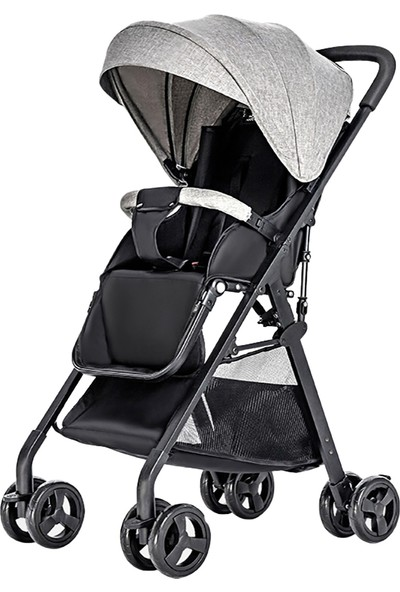 Buyfun Bebek Arabası Yüksek Görünüm Pram Bir Adım Kat Hafif