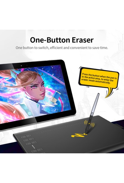 Huion H1060P Grafik Çizim Tablet Mikro USB 12 Express (Yurt Dışından)