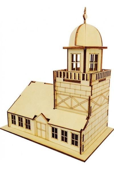 Okul Marketim Ahşap Maket Kız Kulesi
