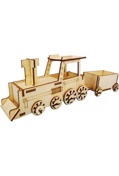 Okul Marketim Ahşap Maket Tren