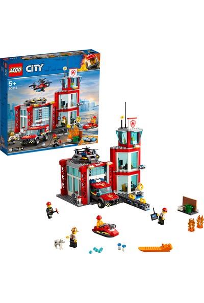 LEGO® City 60215 İtfaiye Merkezi Yapım Seti (509 Parça) - Çocuk Oyuncak