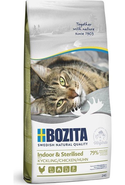 Bozita Indoor Sterilized Tahılsız Tavuklu Kedi Maması 2 kg