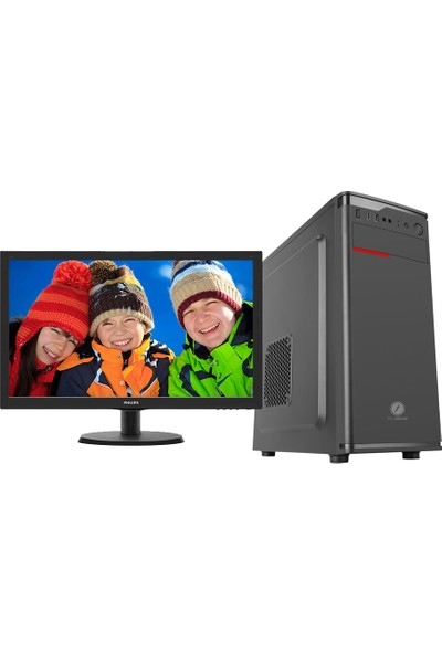 "Go Gamer GS3D Intel Pentium G5400 8GB 240GB SSD RX550 Freedos 21.5"" FHD Masaüstü Oyuncu Bilgisayarı"