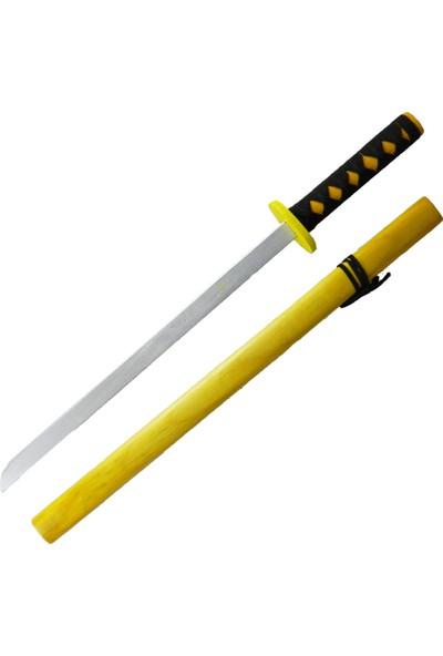 Toptan Hediyeci Ahşap Renkli Japon Samuray Katana Kılıcı Büyük Boy