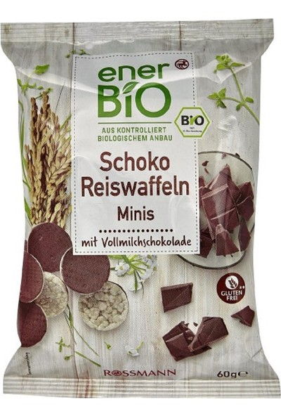 Enerbio Organik Pirinç Patlağı Çikolatalı 60 gr