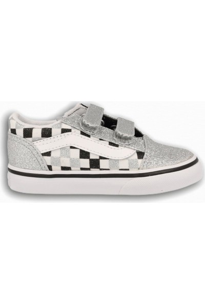 Vans Old Skool V Glitter Checkerboard Kız Çocuk Sneaker