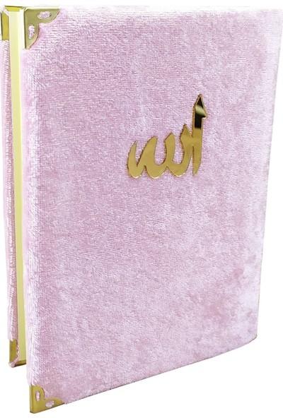 Haktan Yayınları Kadife Kaplı Toz Pembe Renkli Yasin Kitabı