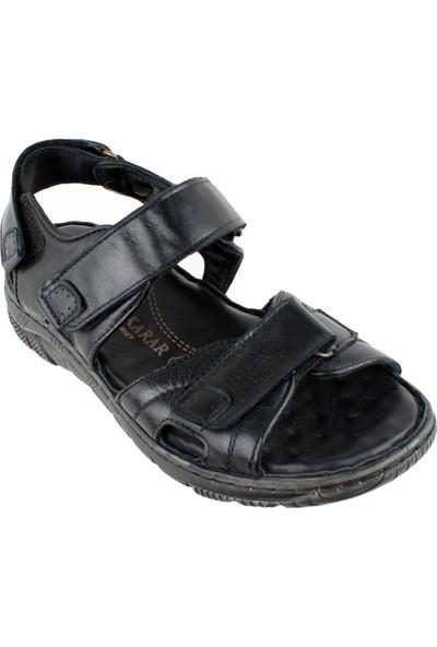 Faruk Karar 1018 Deri Erkek Sandalet