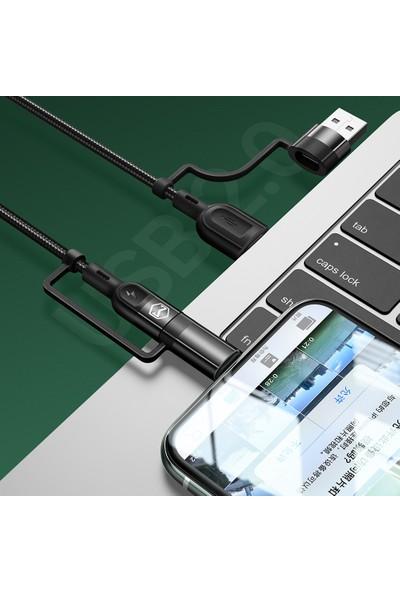 Mcdodo Çok Fonksiyonlu 4in1 Hızlı Şarj ve Data Kablosu 1.2m CA-8070