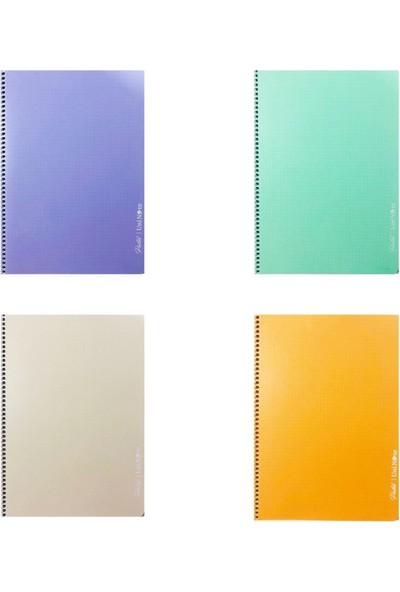 Çınar Pastel Renk Spiralli Defter 60 Yaprak A4 4'lü