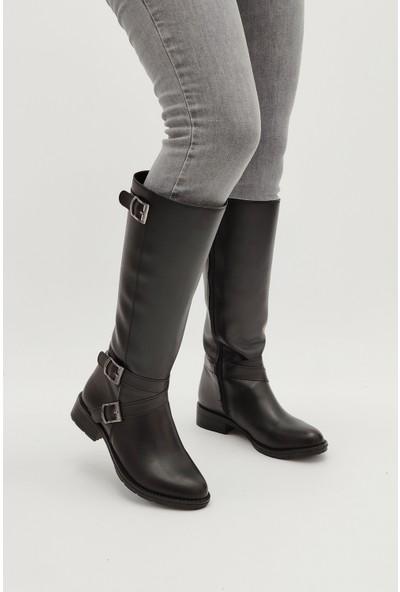 Ayax 640301 Siyah Kadın Çizme