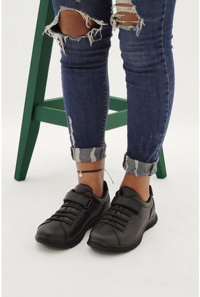 Ayax 210001 Siyah Kadın Sneaker