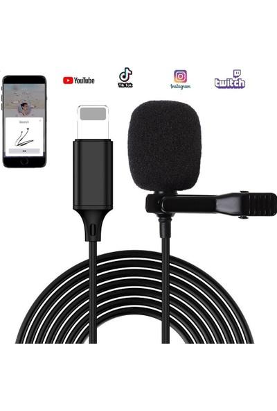 Coverzone Klipsli Yaka Mikrofonu 2m