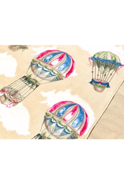 Madame Coco Balon Desenli Plaj Havlusu - Toprak - 70x160 cm