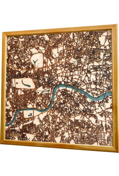 Zmap Design Londra Ahşap Şehir Haritası