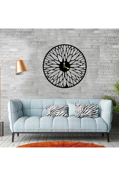 Magnet Market Desenli Dekoratif Ahşap Duvar Saati