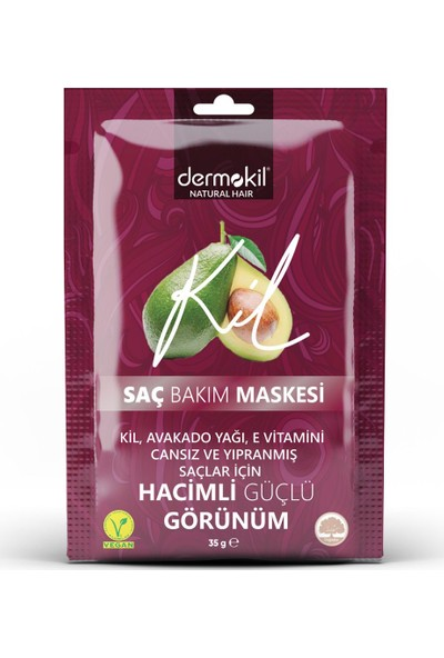Dermokil Avokado, Kil ve E Vitaminli Saç Maskesi