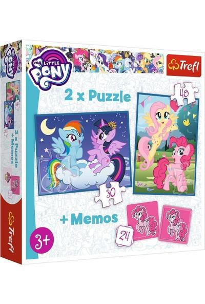 Trefl Hasbro My Little Pony 2'li 30+48 Parça Yapboz 1 Memory Oyun