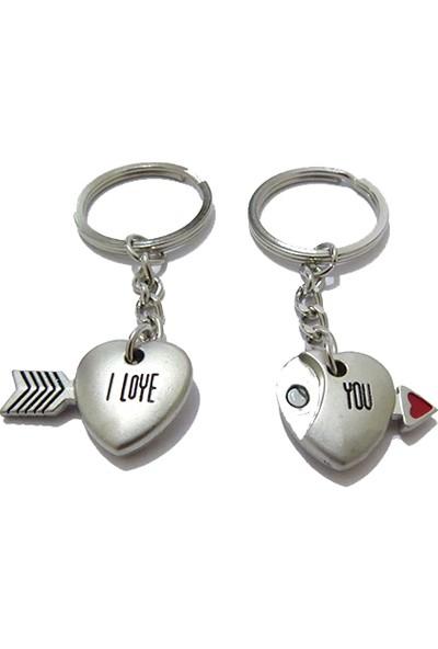 Idea Mıknatıslı Birleşen Metal Mini Kalpler Çiftli Anahtarlık