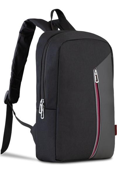 "Classone PR-R300B Modena 15.6"" Notebook Sırt Çantası Siyah - Bordo"