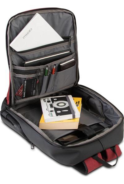 "Classone BP-IT805 Parma 15.6"" Notebook Sırt Çantası Bordo"