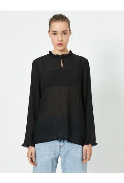 Koton Yaka Detaylı Bluz
