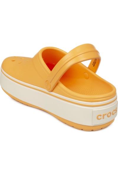 Crocs 205434 G Crocband Platform Clog Sarı Unisex Terlik