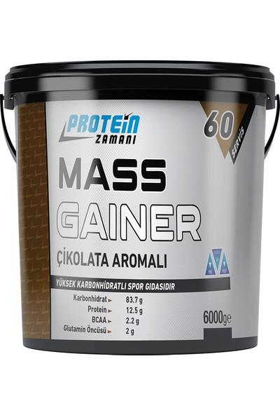 Protein Zamanı Mass Gainer Karbonhidrat Tozu 6000 gr 60 Servis Çikolata Aromalı + Shaker