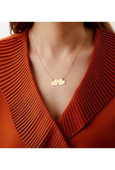 Tubi̇ss Takı Kişiye Özel Kalpler Gümüş Kolye