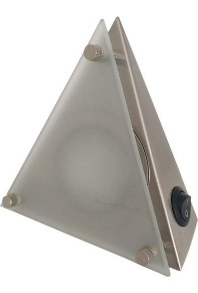 Yiğitled Üçgen Spot Camlı Paslanmaz 3W LED 220 V Gün Işığı