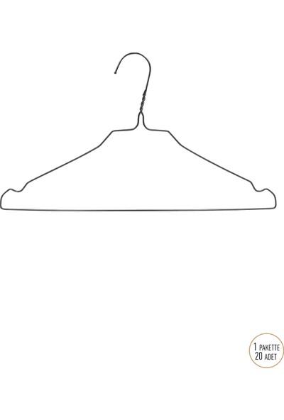 Ganteks Tel 20'li Elbise ve Kıyafet Askısı