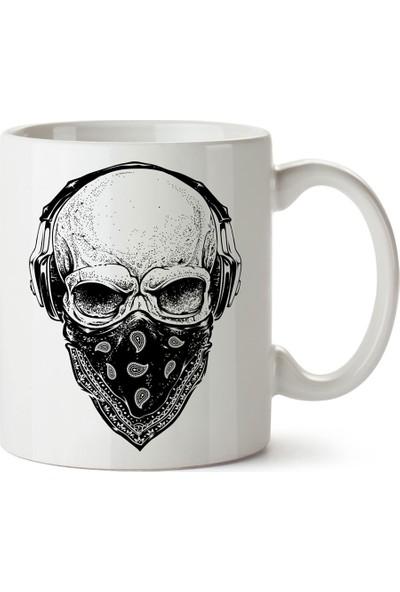Presstish Gangsta Skull Tasarım Baskılı Kupa Bardak