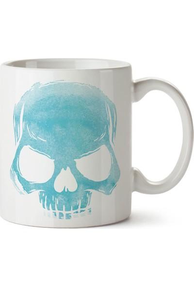 Presstish Skull Cloud (Turquoise) Tasarım Baskılı Kupa Bardak