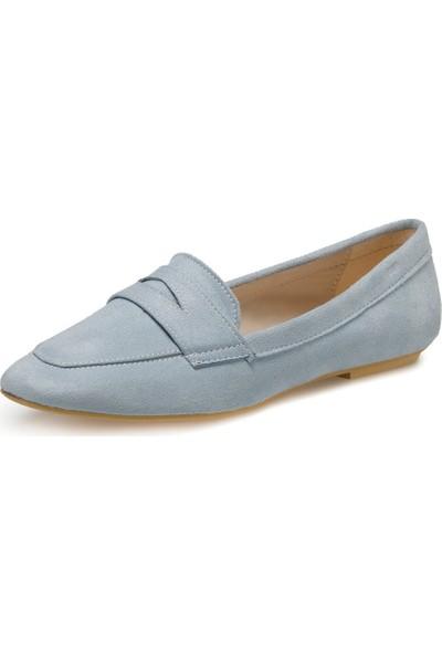DS20048 Açık Mavi Kadın Loafer Ayakkabı