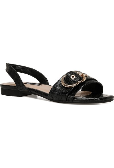 Nine West Lorata Siyah Kadın Düz Sandalet