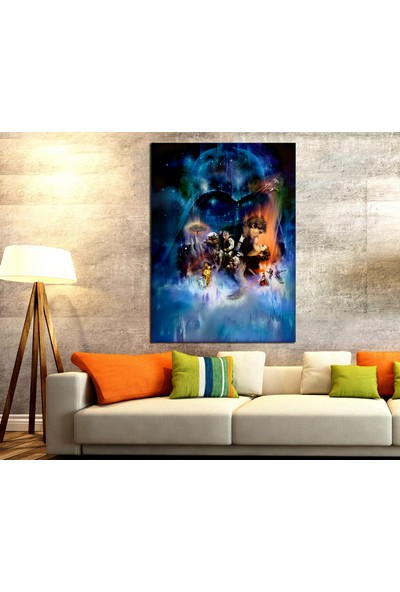Caddeko StarWars Hikayesi Kanvas Tablo dkmsw05-70 x 100 cm