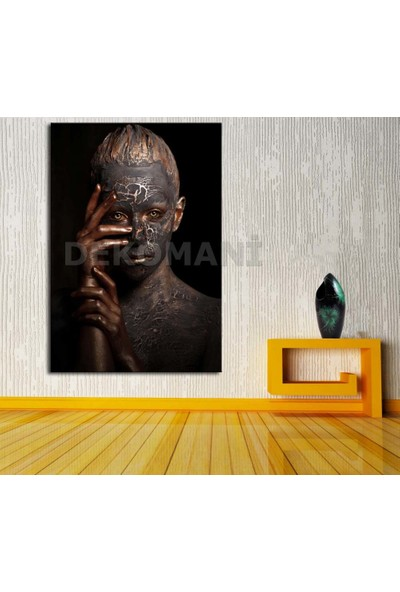 Caddeko Afrikalı Kadın Tablosu Afr21-70 x 100 cm