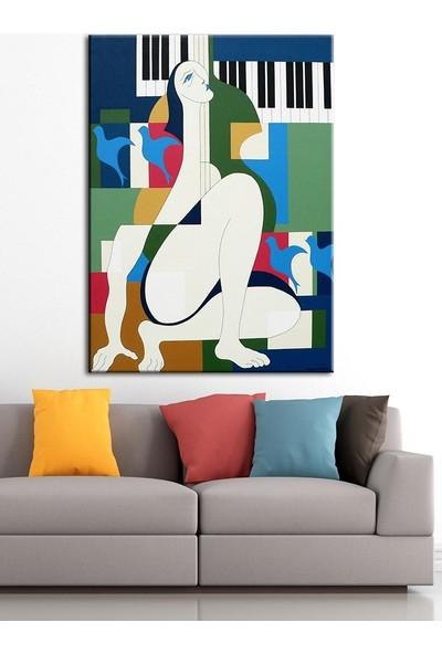 Caddeko Sanatsal Yağlı Boya Görünüm Kanvas Tablo dkm-k61-108-70 x 100 cm