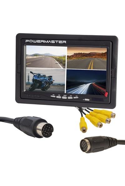 Powermaster PM-16804 7 Inç Ekranı Dörde Bölünebilen Quad Dijital Monitör