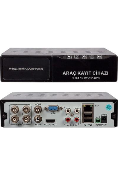 Powermaster PM-7104HD 4 Kanal 5 In 1 Mobil Dvr Kayıt Cihazı (2.5 HDD Takılabilir)
