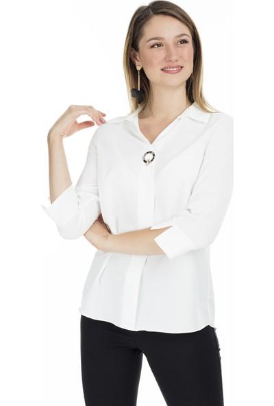 Ayhan Gömlek Yaka Bluz