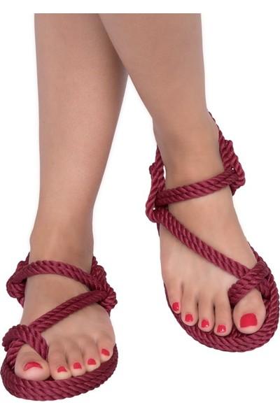 Nomadic Republic Hawai Bordo Sandalet