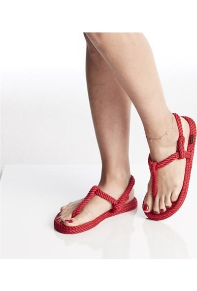 Nomadic Republic Masai Kırmızı Sandalet